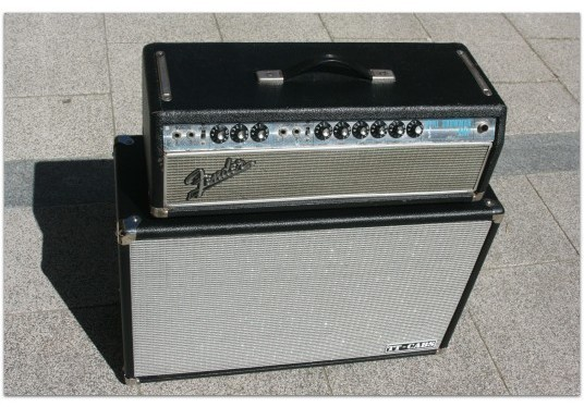 "FENDER ""Dual Showman ´68 Head"" + ""Cabinet Tube Town 2 x 12 Celestion"""