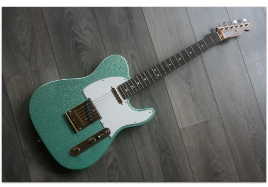 FENDER  Super Custom Deluxe Telecaster NAMM '18 Limited Edition Seafoam Green Sparkle