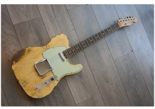 FENDER  63 Heavy Relic Compound Radius Tele - Aged Olympic White - NAMM LIMITED EDITION