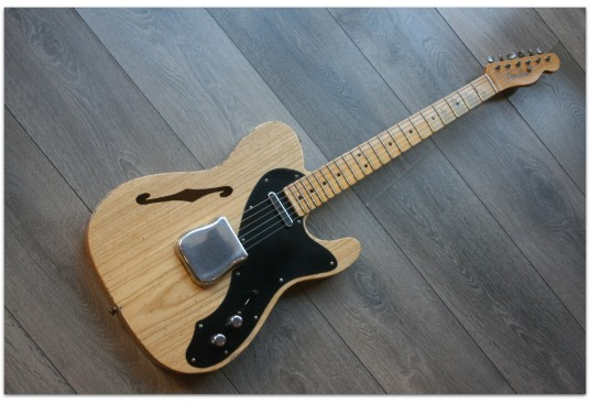 """FENDER """"Custom Shop Limited Edition Loaded Thinline Nocaster - Aged Natural"""""""