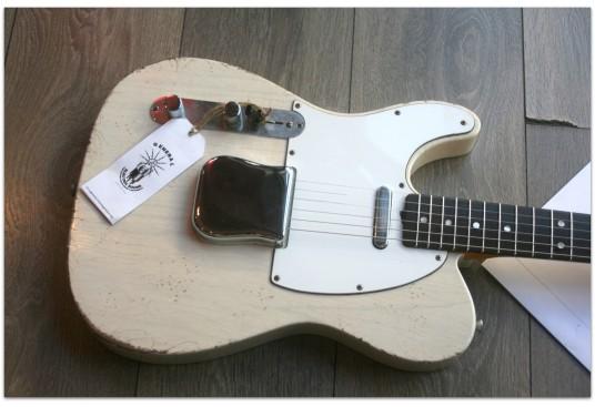 """GENERAL """"General Vintage Tone T Custom 1965 See Thru Blonde, Left Handed"""""""