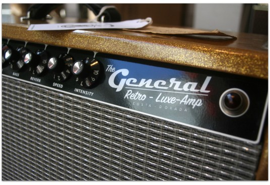 "GENERAL "" Retro Luxe Reverb 1963 Custom Gold Glitter sparkle 15"" """