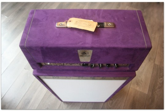"3 Monkeys ""Grease Head in Suede Purple Finish without Master Volume+Trapezoidal Purple Suede 2 x 12"""