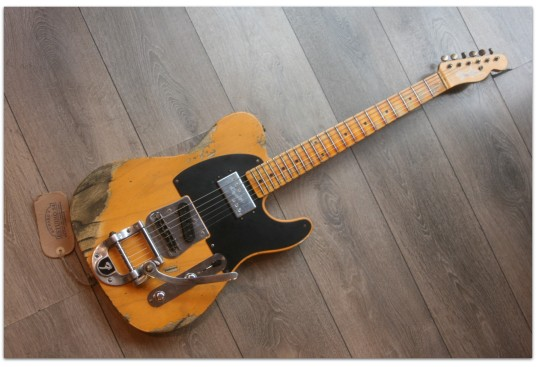"FENDER ""Custom Shop Limited Edition Cunife Blackguard Tele Heavy Relic Butterscotch Blonde Maple Neck"""